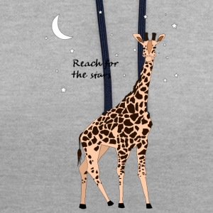 Giraffe - Reach for the stars - Contrast Colour Hoodie