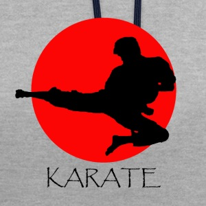 karaté - Sweat-shirt contraste