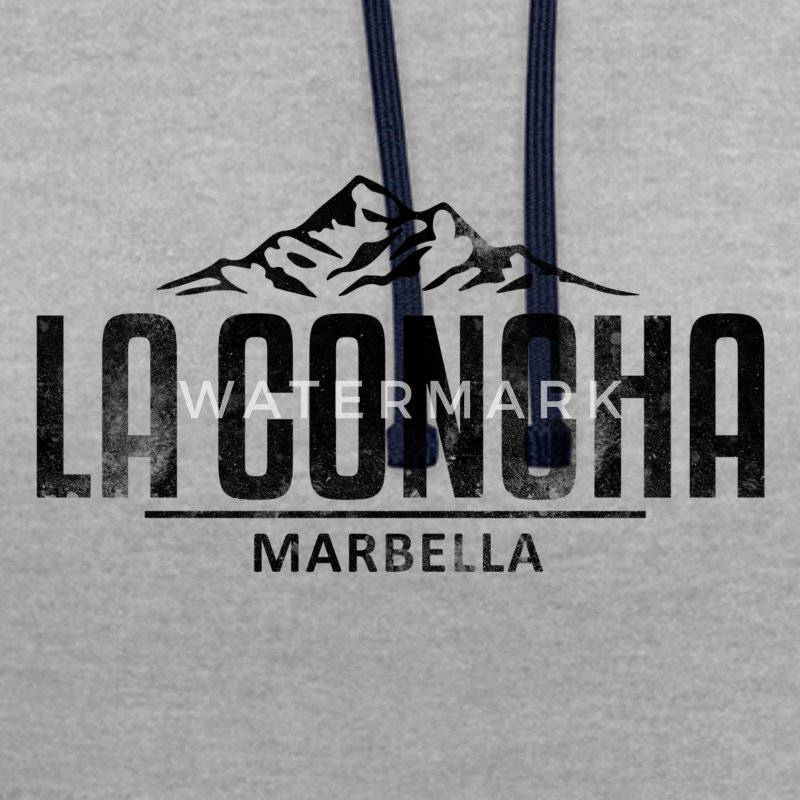 La Concha Faded Black Vintage Logo - Contrast Colour Hoodie