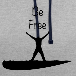 Be Free - Sweat-shirt contraste