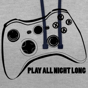 Joystick-Gamer - Sweat-shirt contraste
