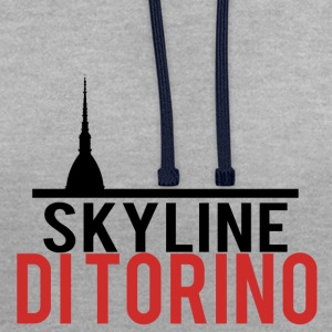 Skyline de Turin - Sweat-shirt contraste