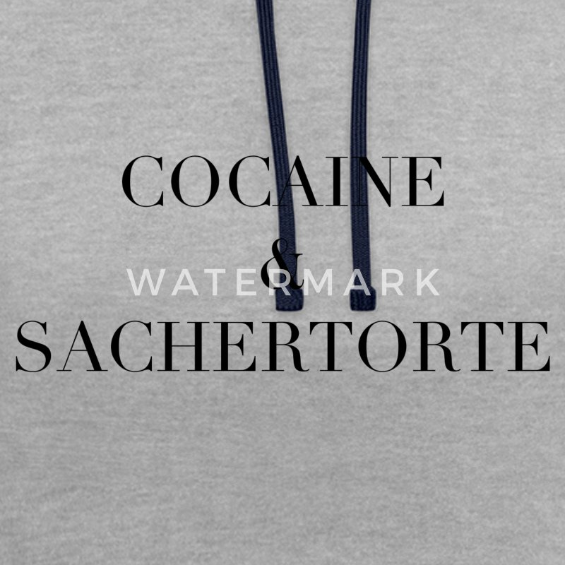 Cocaine & Sachertorte - Contrast Colour Hoodie