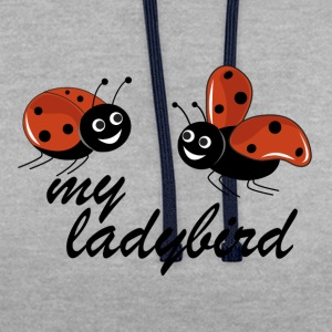 ladybugs - Contrast Colour Hoodie