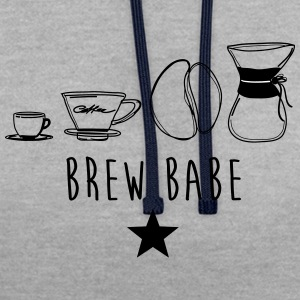 BREW BABE - Sweat-shirt contraste