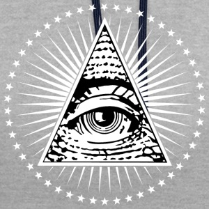 Illuminati Eye of Providence - Contrast Colour Hoodie