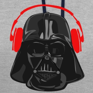 rouge casque Vader - Sweat-shirt contraste