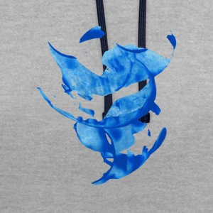 cercle bleu - Sweat-shirt contraste