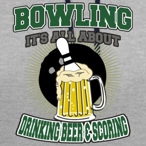 Bowling Drinking Beer And Scoring - Contrast Colour Hoodie