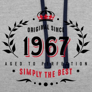 original since 1967 simply the best 50th birthday - Contrast Colour Hoodie