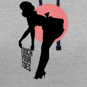 Vintage Girl - Touch Your Toes! - Sweat-shirt contraste