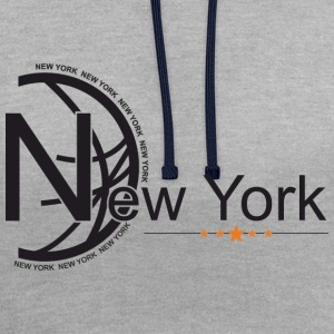 New York - Contrast Colour Hoodie