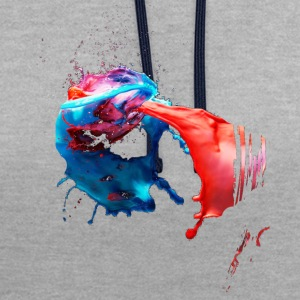 couleur Splash - Sweat-shirt contraste