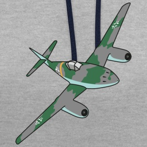 Me262 Fighter Jet - Sweat-shirt contraste