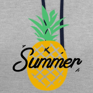 Summer Pineapple - Contrast Colour Hoodie