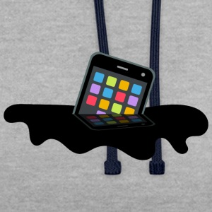 mobile - Sweat-shirt contraste