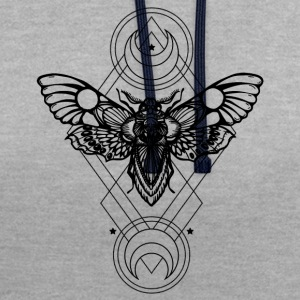 sacred geometry - Geometric -Sfinge dead head - Contrast Colour Hoodie