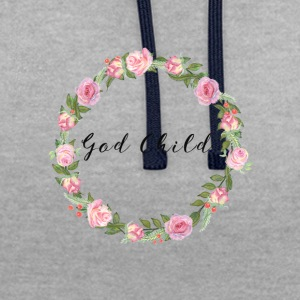 God Child T-shirt - Contrast Colour Hoodie