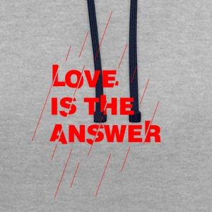 Love is the answer - Felpa con cappuccio bicromatica