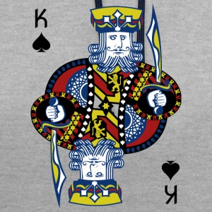 King of Spades Hold'em Poker - Bluza z kapturem z kontrastowymi elementami