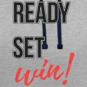 ready-set win - Contrast Colour Hoodie