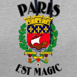 Paris Is Magic White - Contrast hoodie