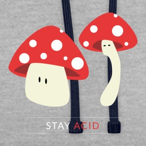 Red mushrooms - Contrast Colour Hoodie