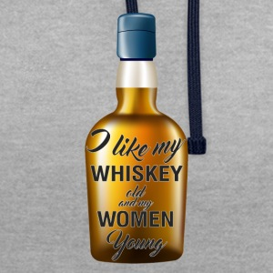 Whiskey - I like my Whiskey old and my women young - Kontrast-Hoodie