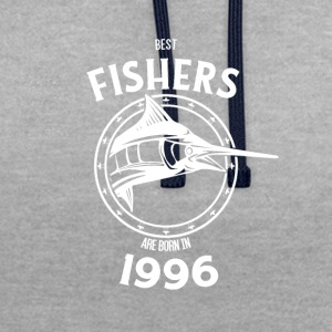 Present for fishers born in 1996 - Contrast Colour Hoodie