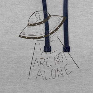 We are not alone - Contrast Colour Hoodie