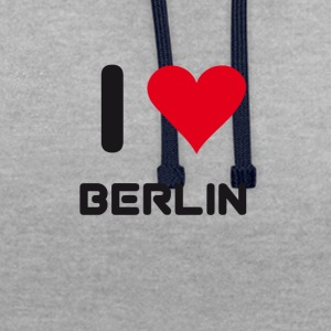 I love berlin heart Germany City love holidays B - Contrast Colour Hoodie