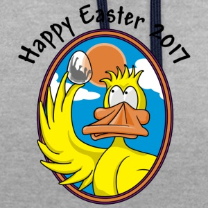 Happy Easter 2017 - Contrast Colour Hoodie