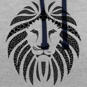 Lion noir belle - Sweat-shirt contraste
