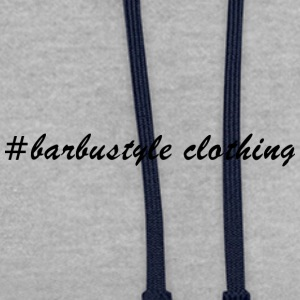 #barbustyle black - Contrast Colour Hoodie