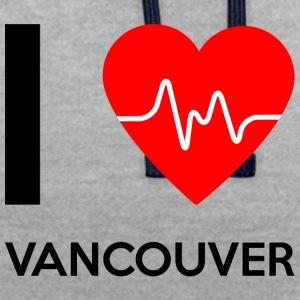 I Love Vancouver - Ich liebe Vancouver - Kontrast-Hoodie