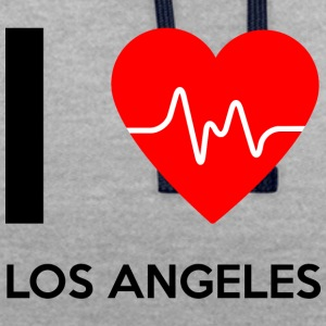 I Love Los Angeles - Ich liebe Los Angeles - Kontrast-Hoodie