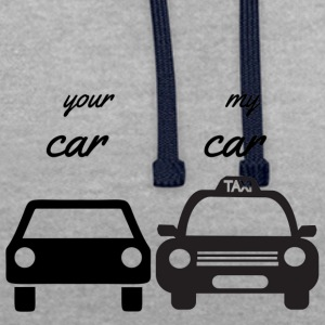 your car - my car - Kontrast-Hoodie