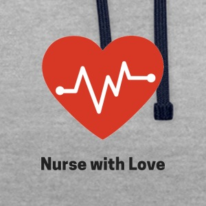 nurse with love - Kontrast-Hoodie