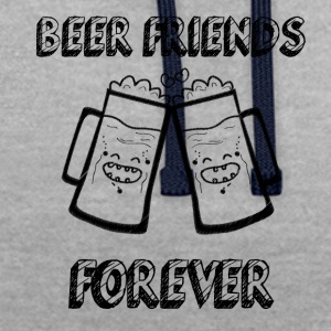Beer Friends Forever - Contrast Colour Hoodie
