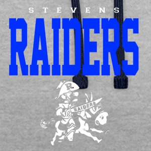 Stevens Raiders with horse - Contrast Colour Hoodie