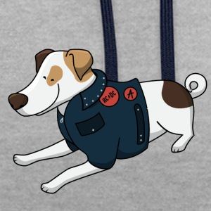 Jack Russell Terrier - Contrast Colour Hoodie