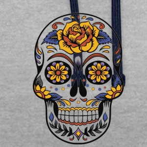 Day of the Dead - Bluza z kapturem z kontrastowymi elementami