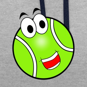 Happy Tennis Ball - Contrast Colour Hoodie