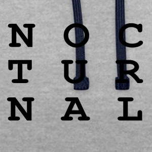 NOCTURNAL - Contrast Colour Hoodie