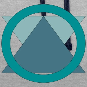 Triangle_in_Circle - Sweat-shirt contraste