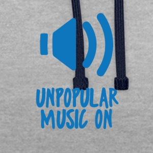 Hipster: Unpopular Music On - Sweat-shirt contraste