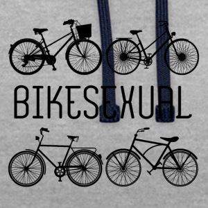 Bicycle: Bikesexual - Contrast Colour Hoodie