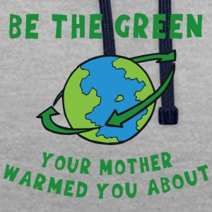 Earth Day Go Green - Sweat-shirt contraste