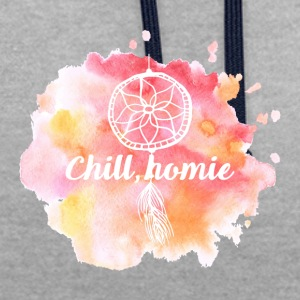 Hippie / Hippies: Chill Ho.mie - Contrast Colour Hoodie