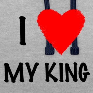 I Love My KING - Sweat-shirt contraste